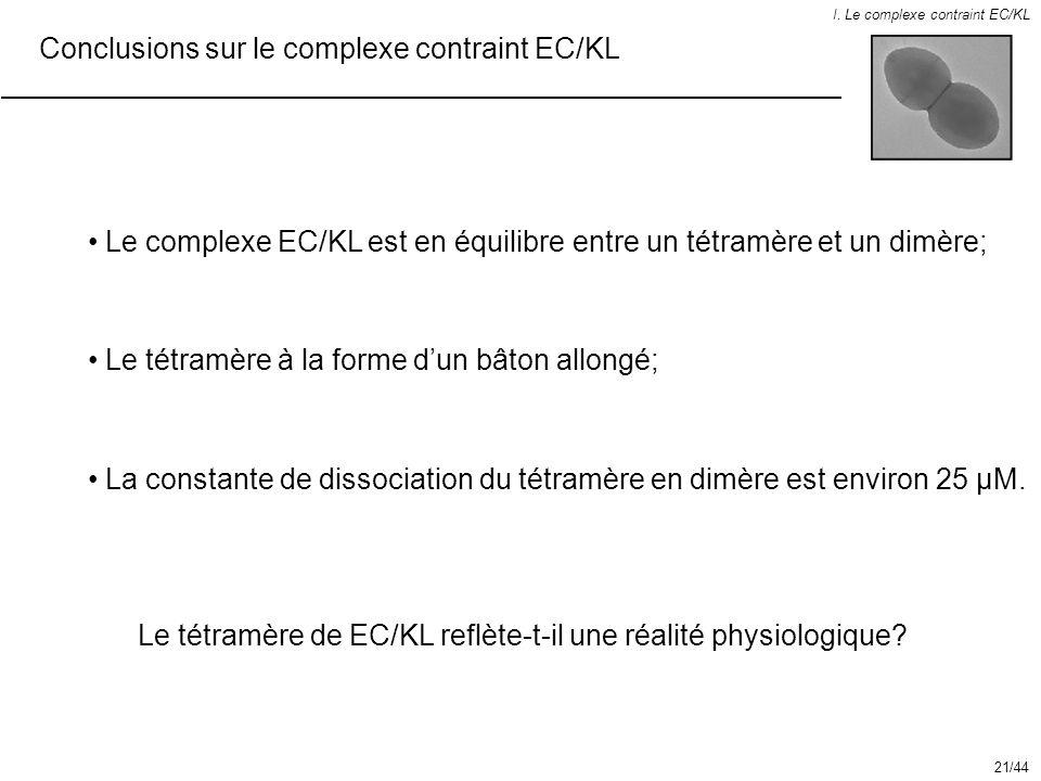 Conclusions sur le complexe contraint EC/KL