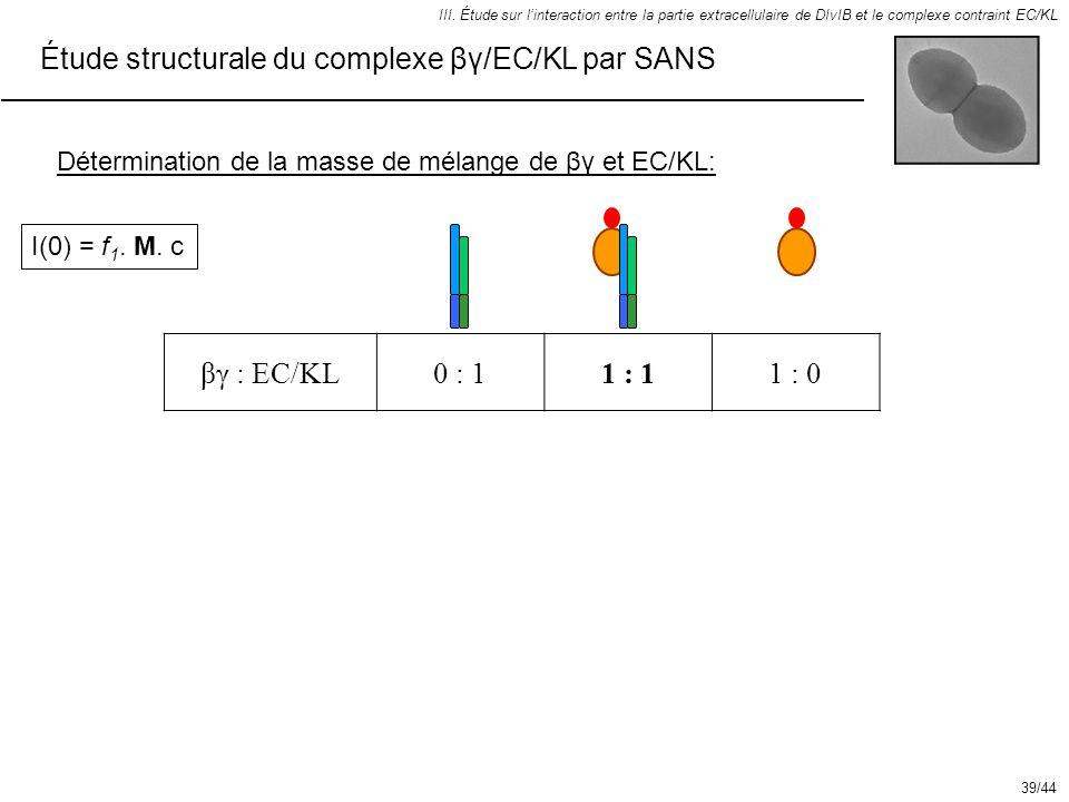 Étude structurale du complexe βγ/EC/KL par SANS