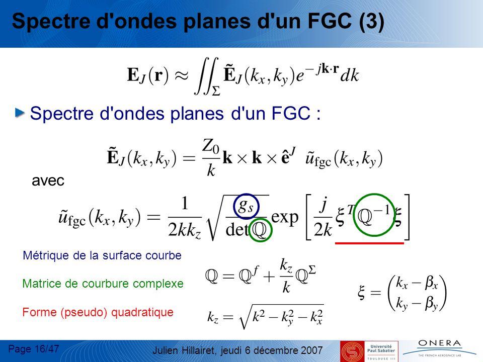 Spectre d ondes planes d un FGC (3)