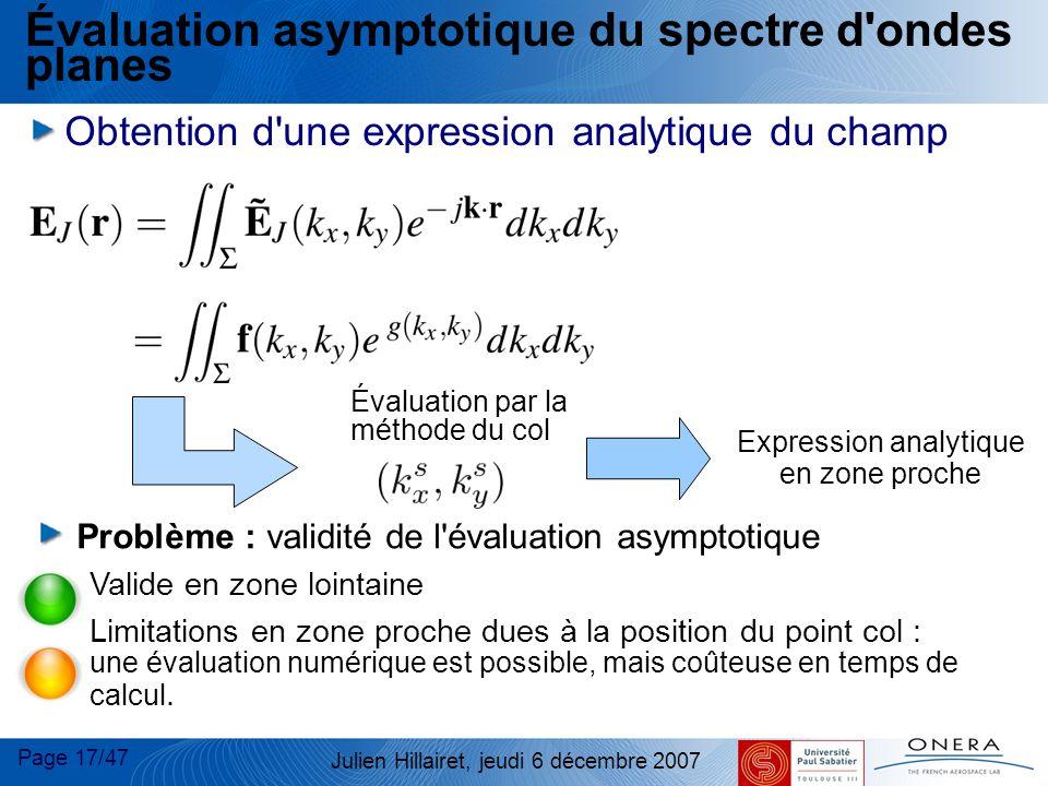 Évaluation asymptotique du spectre d ondes planes