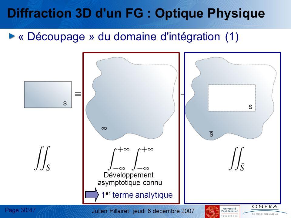 Diffraction 3D d un FG : Optique Physique