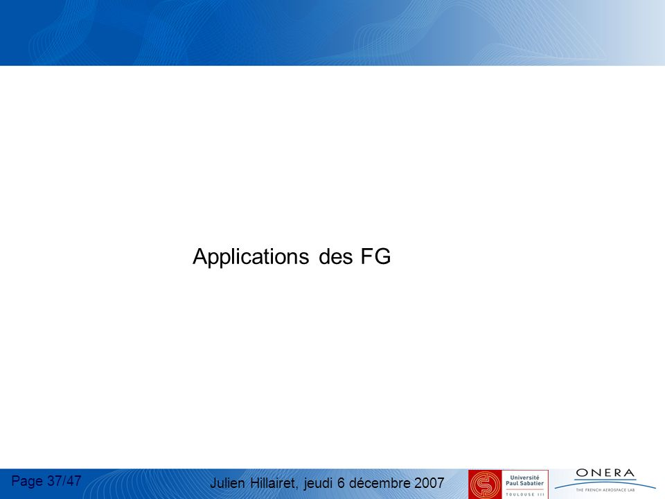 Applications des FG