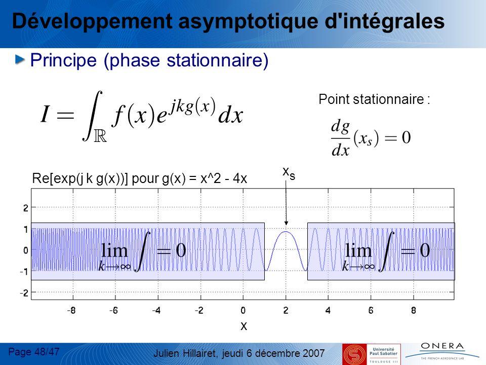 Développement asymptotique d intégrales