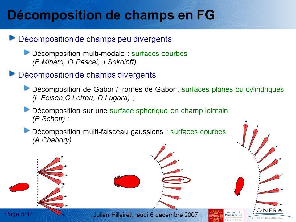 Décomposition de champs en FG