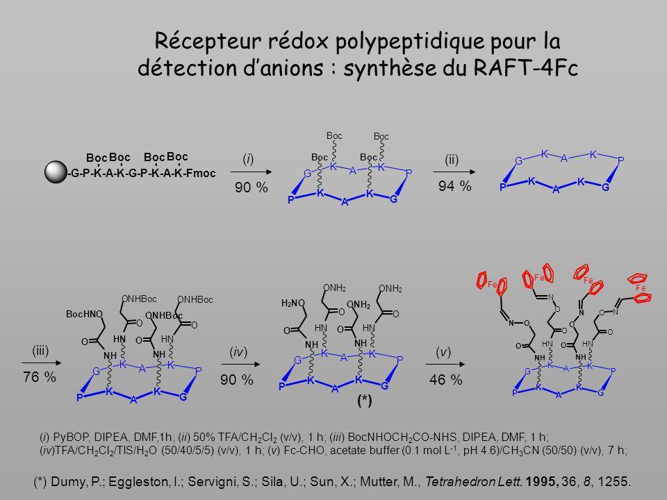 Récepteur rédox polypeptidique pour la détection d'anions : synthèse du RAFT-4Fc