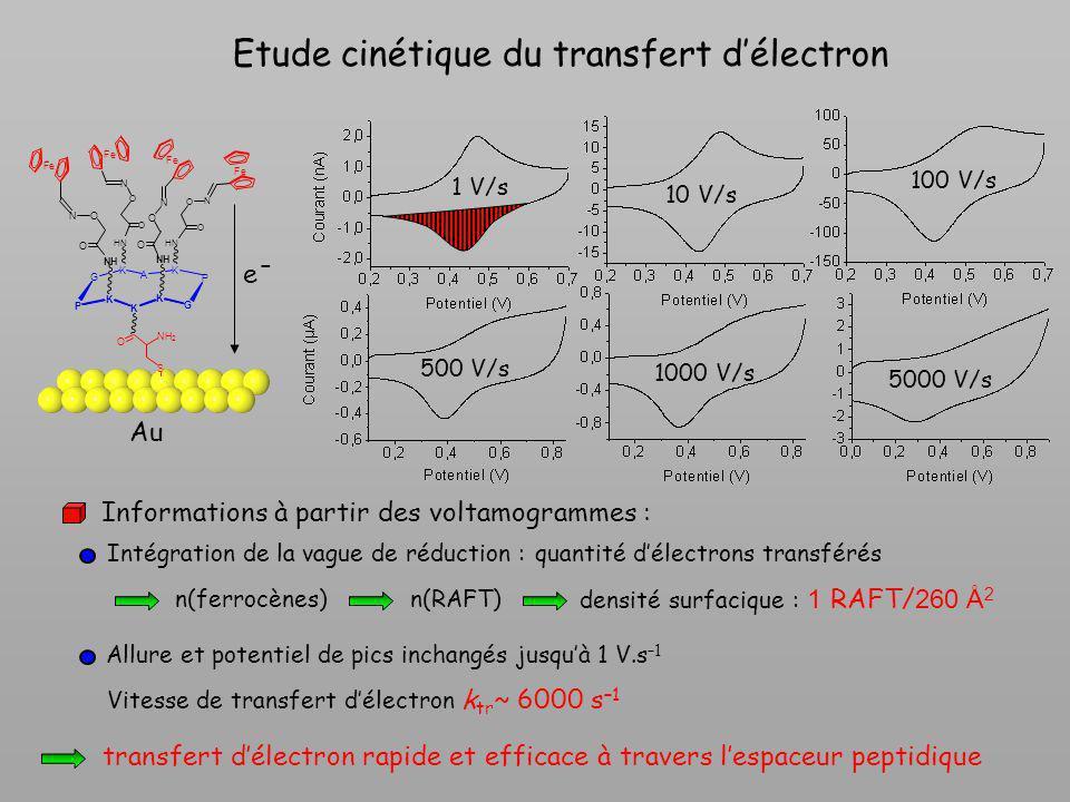 Etude cinétique du transfert d'électron