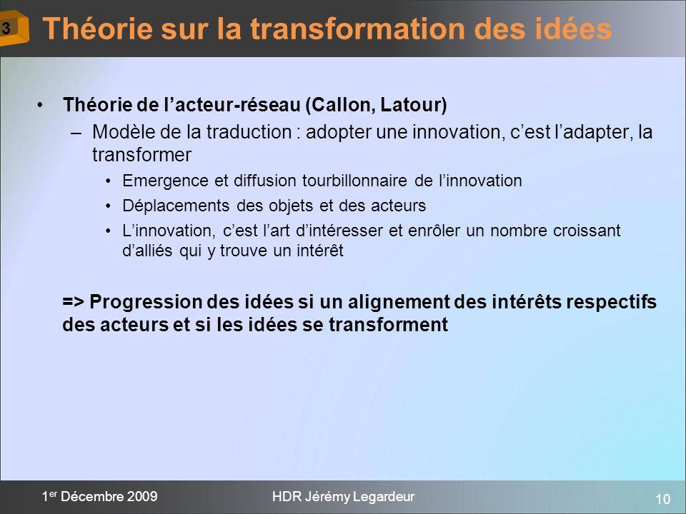 Théorie sur la transformation des idées