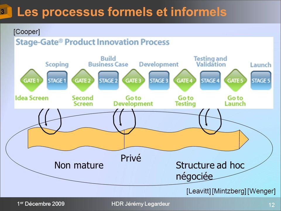 Les processus formels et informels
