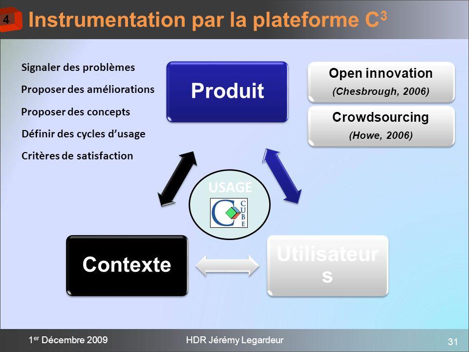 Instrumentation par la plateforme C3
