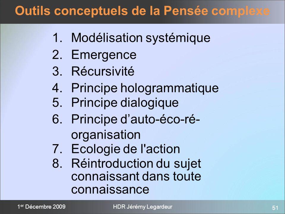 Outils conceptuels de la Pensée complexe