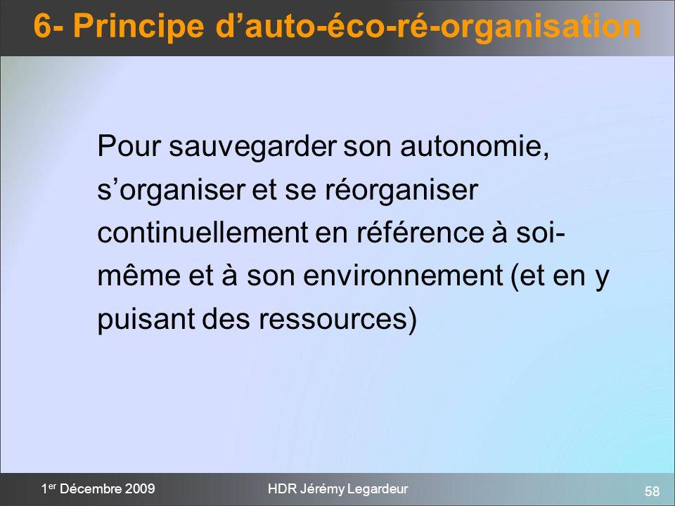 6- Principe d'auto-éco-ré-organisation