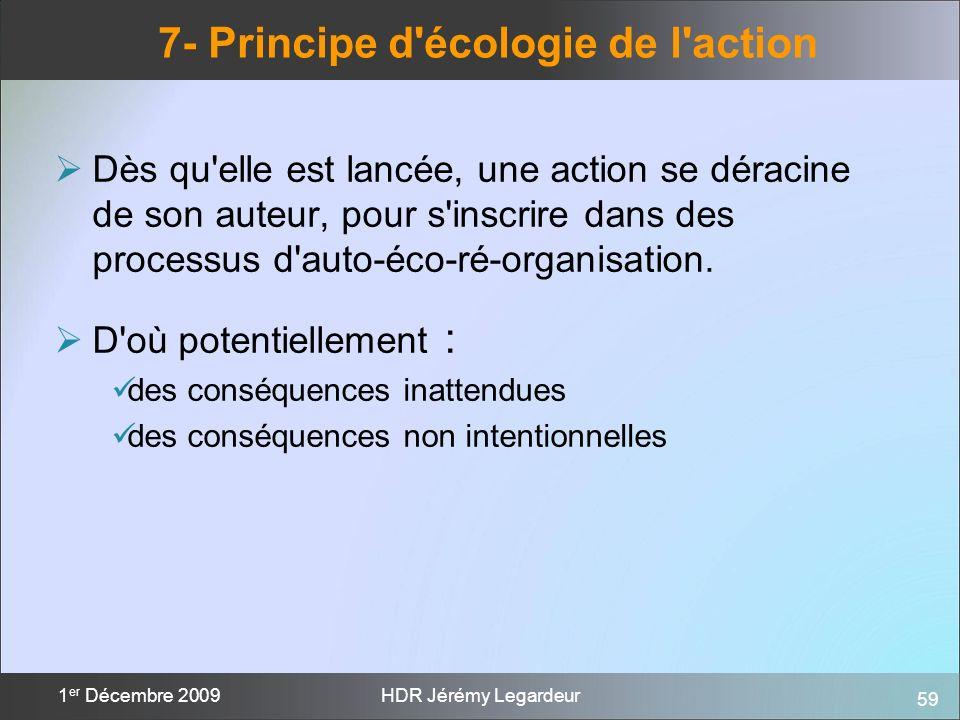 7- Principe d écologie de l action