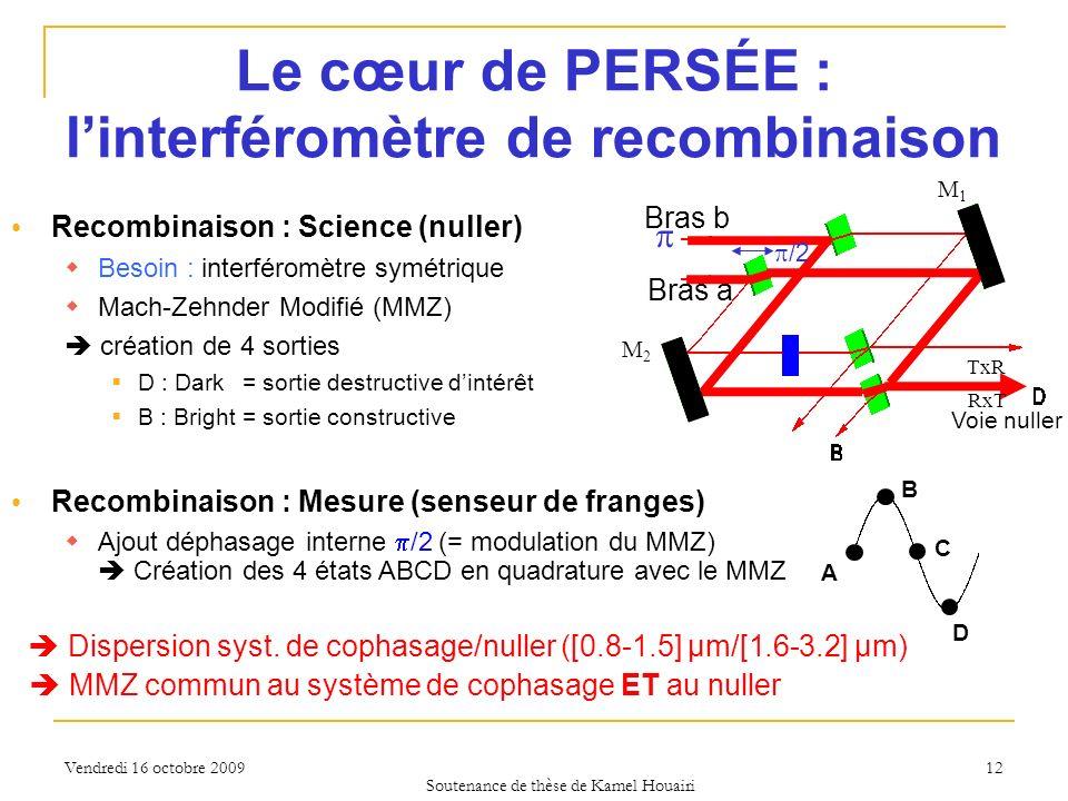 Le cœur de PERSÉE : l'interféromètre de recombinaison