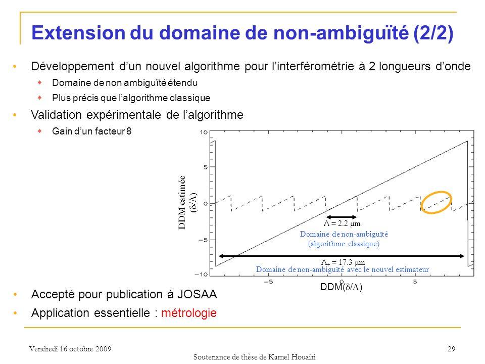 Extension du domaine de non-ambiguïté (2/2)