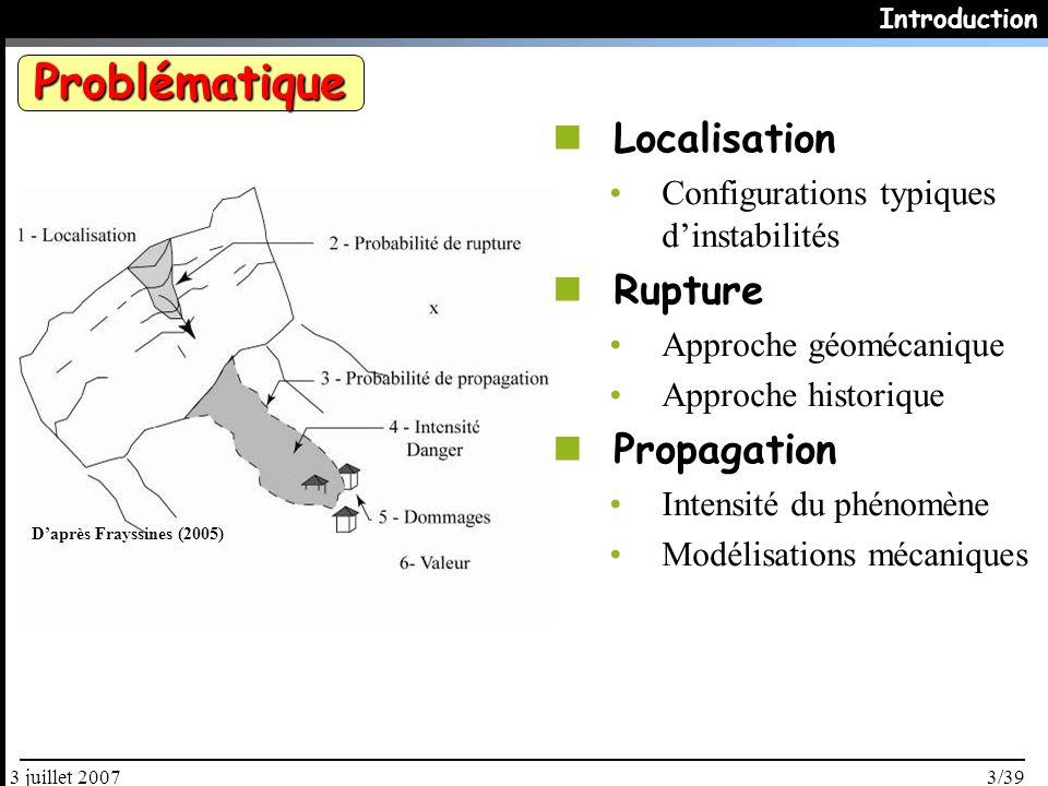 Problématique Localisation Rupture Propagation