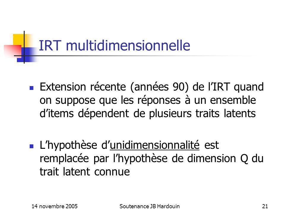 IRT multidimensionnelle