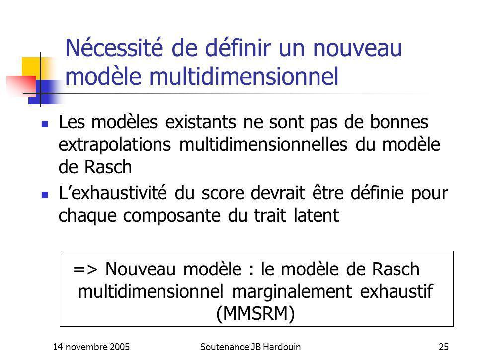 Nécessité de définir un nouveau modèle multidimensionnel