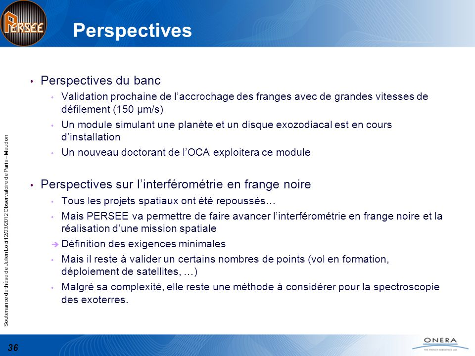 Perspectives Perspectives du banc