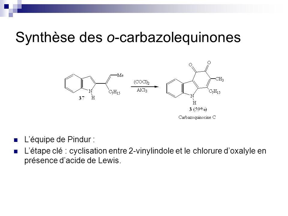 Synthèse des o-carbazolequinones