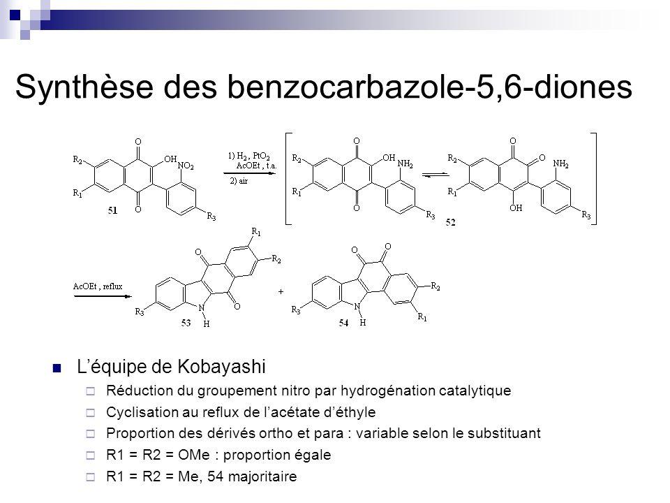Synthèse des benzocarbazole-5,6-diones