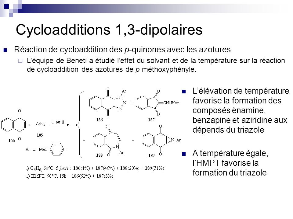 Cycloadditions 1,3-dipolaires
