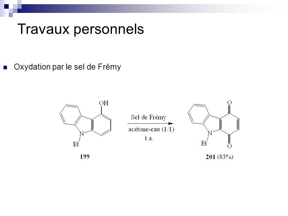 Travaux personnels Oxydation par le sel de Frémy