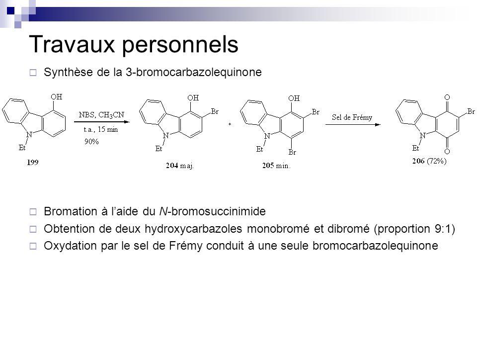 Travaux personnels Synthèse de la 3-bromocarbazolequinone