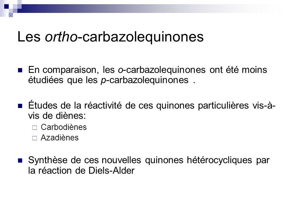 Les ortho-carbazolequinones