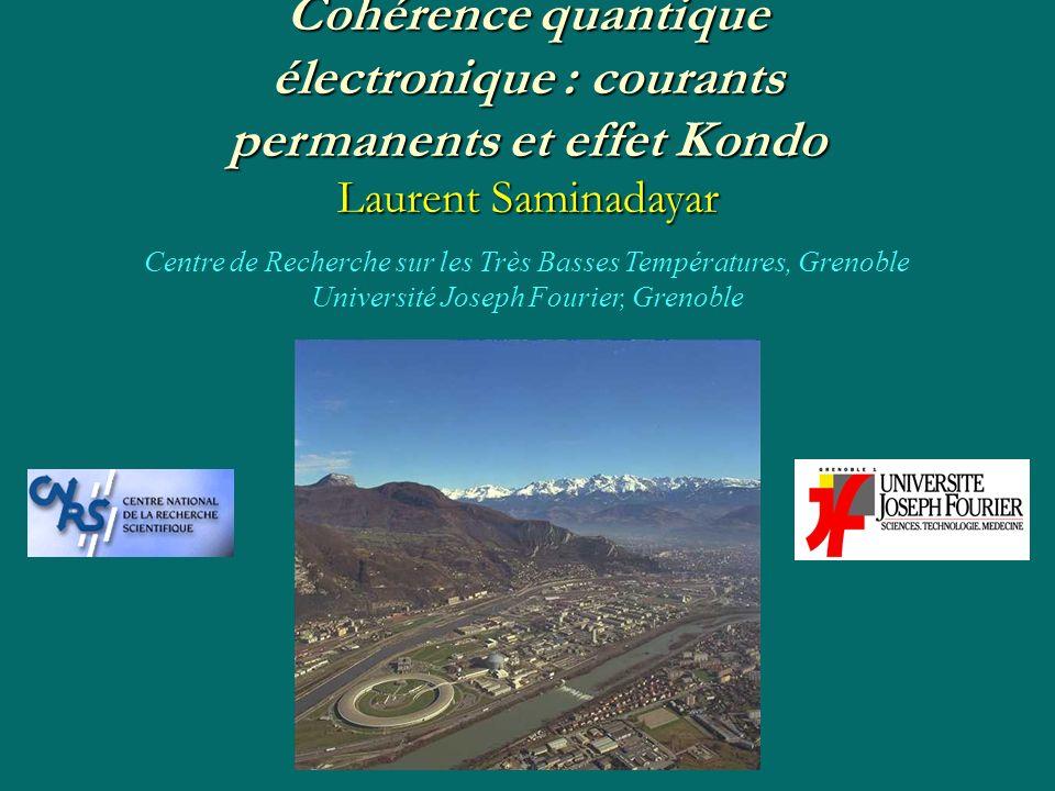 Cohérence quantique électronique : courants permanents et effet Kondo