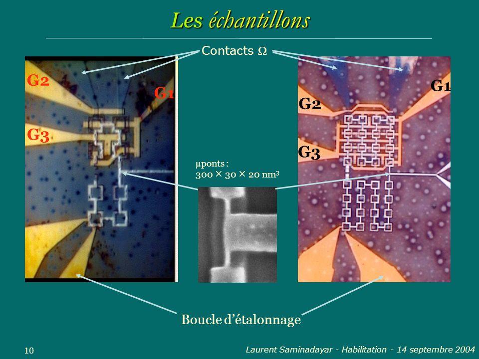 Laurent Saminadayar - Habilitation - 14 septembre 2004