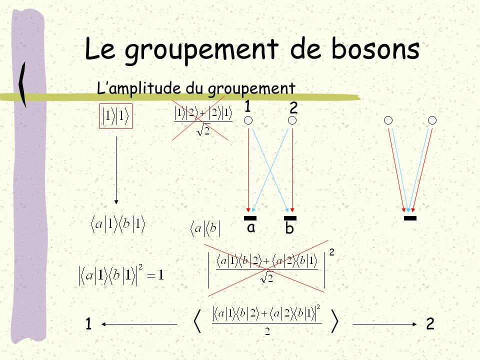 Le groupement de bosons