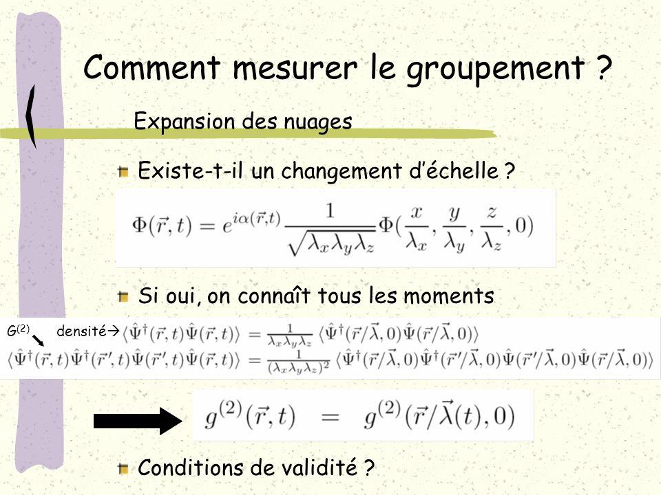 Comment mesurer le groupement