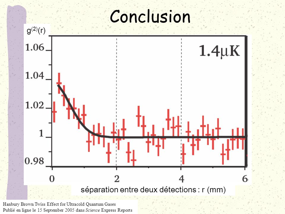 séparation entre deux détections : r (mm)