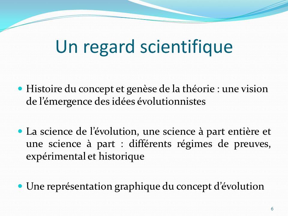 Un regard scientifique
