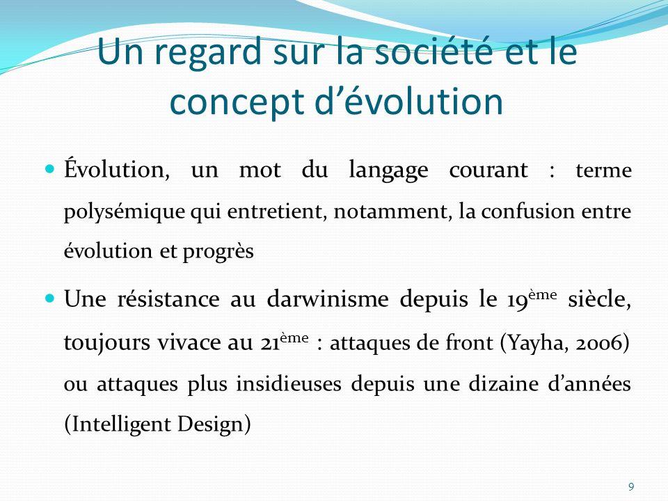 Un regard sur la société et le concept d'évolution
