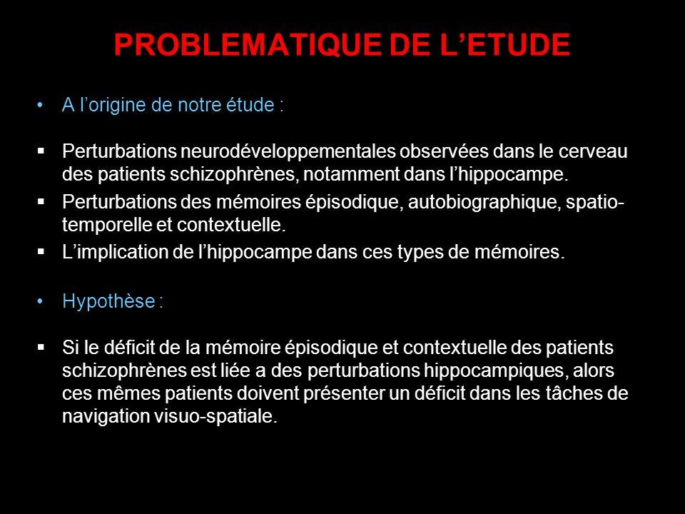 PROBLEMATIQUE DE L'ETUDE