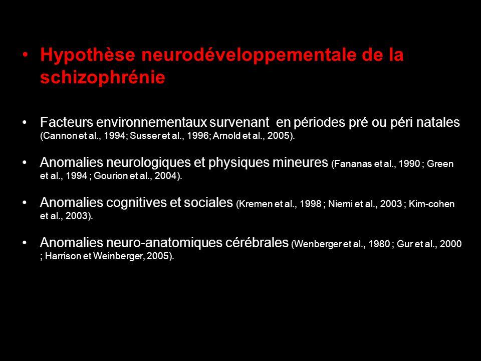 Hypothèse neurodéveloppementale de la schizophrénie