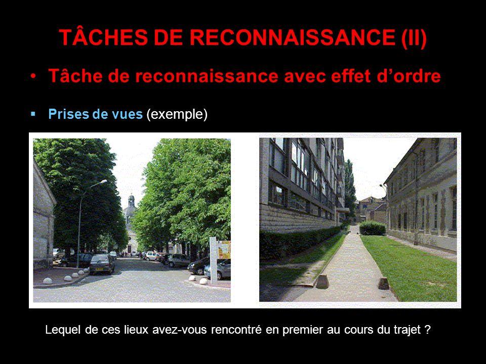 TÂCHES DE RECONNAISSANCE (II)