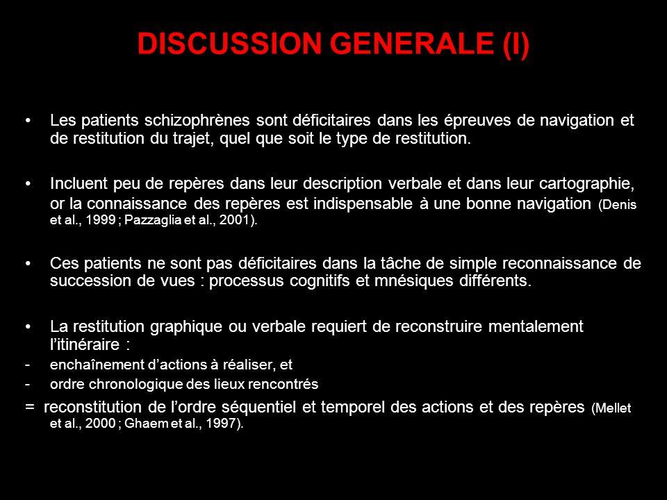 DISCUSSION GENERALE (I)