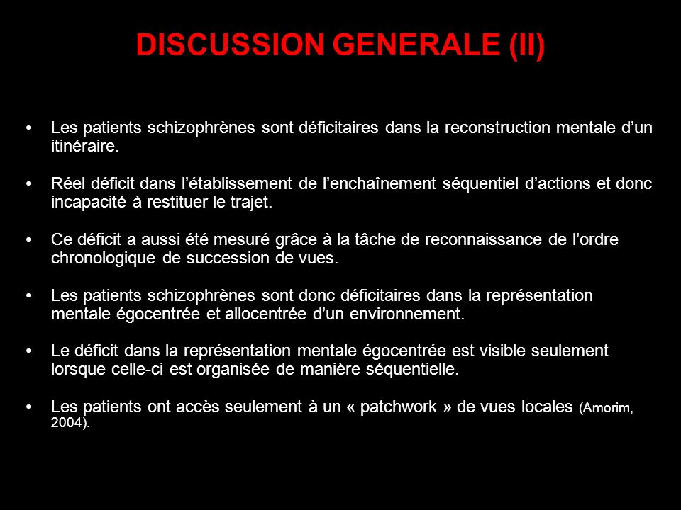 DISCUSSION GENERALE (II)