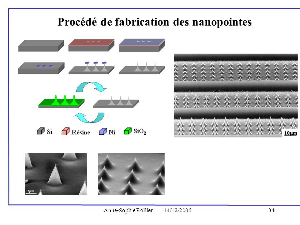 Procédé de fabrication des nanopointes