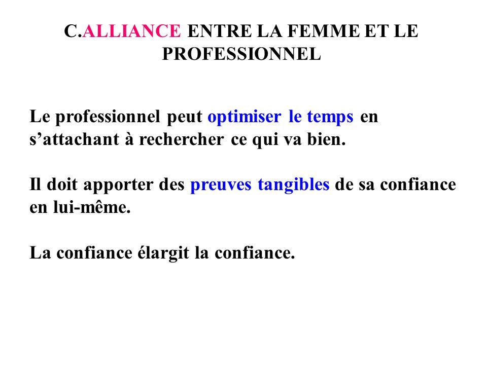 C.ALLIANCE ENTRE LA FEMME ET LE PROFESSIONNEL