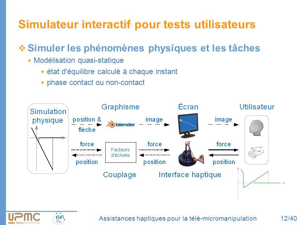 Simulateur interactif pour tests utilisateurs