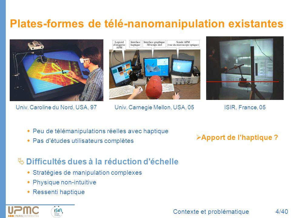 Plates-formes de télé-nanomanipulation existantes