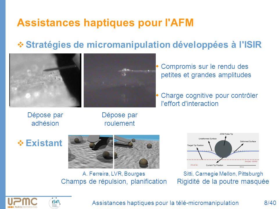 Assistances haptiques pour l AFM