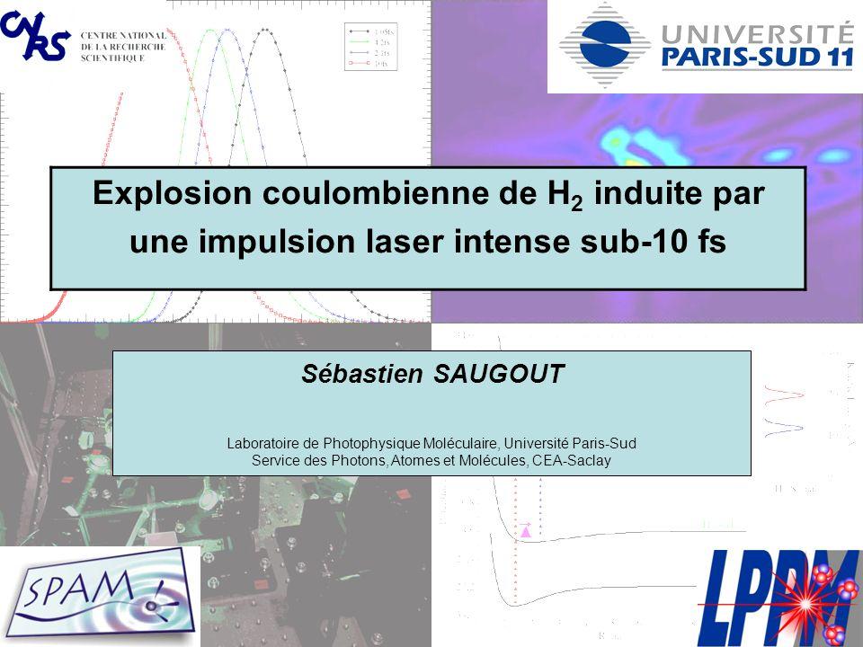 Explosion coulombienne de H2 induite par