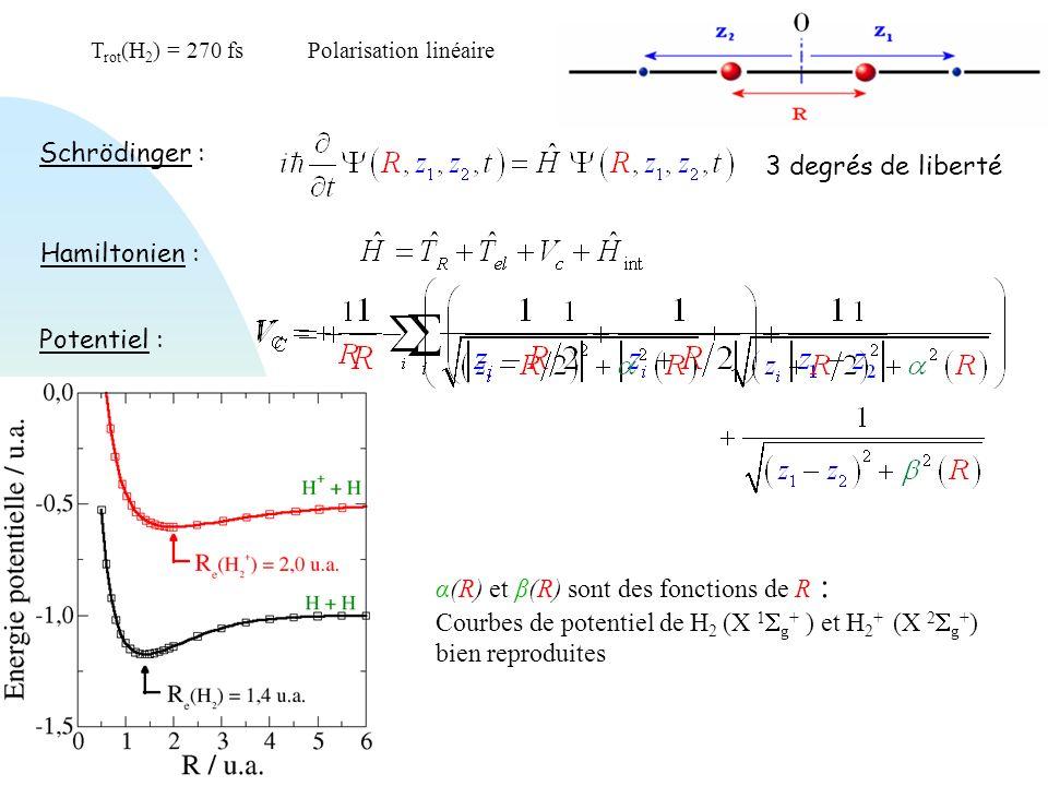 Trot(H2) = 270 fs Polarisation linéaire