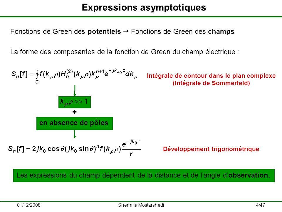 Expressions asymptotiques