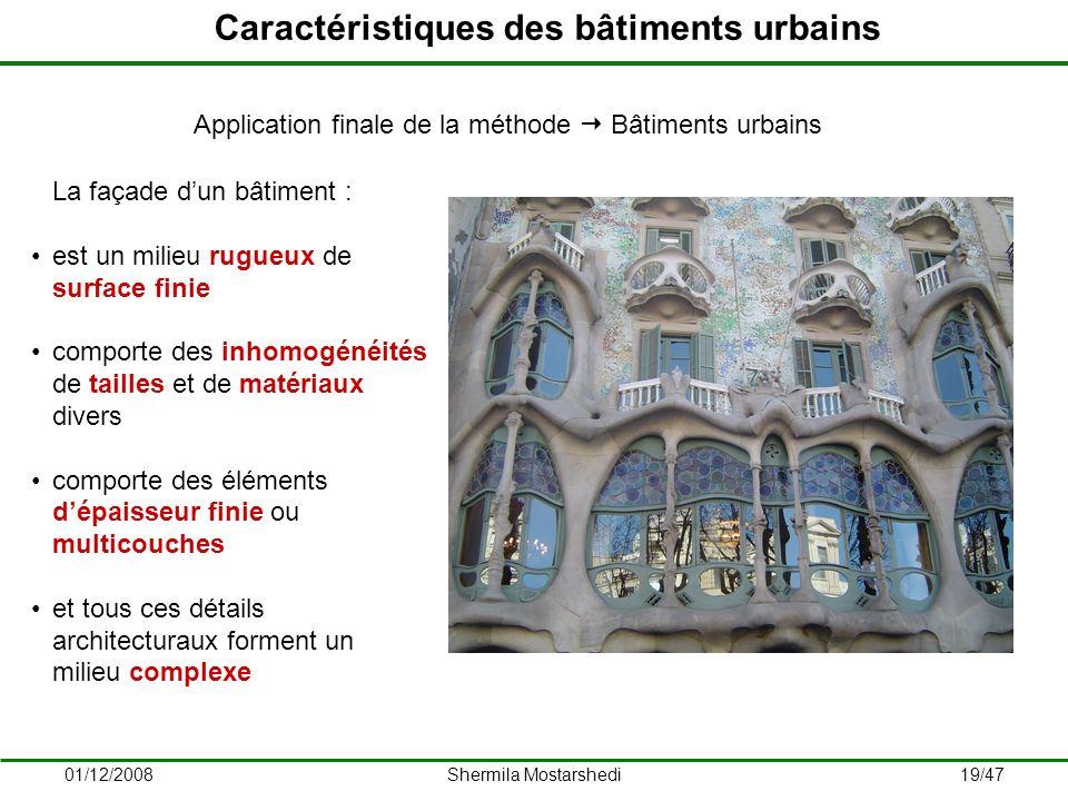 Caractéristiques des bâtiments urbains