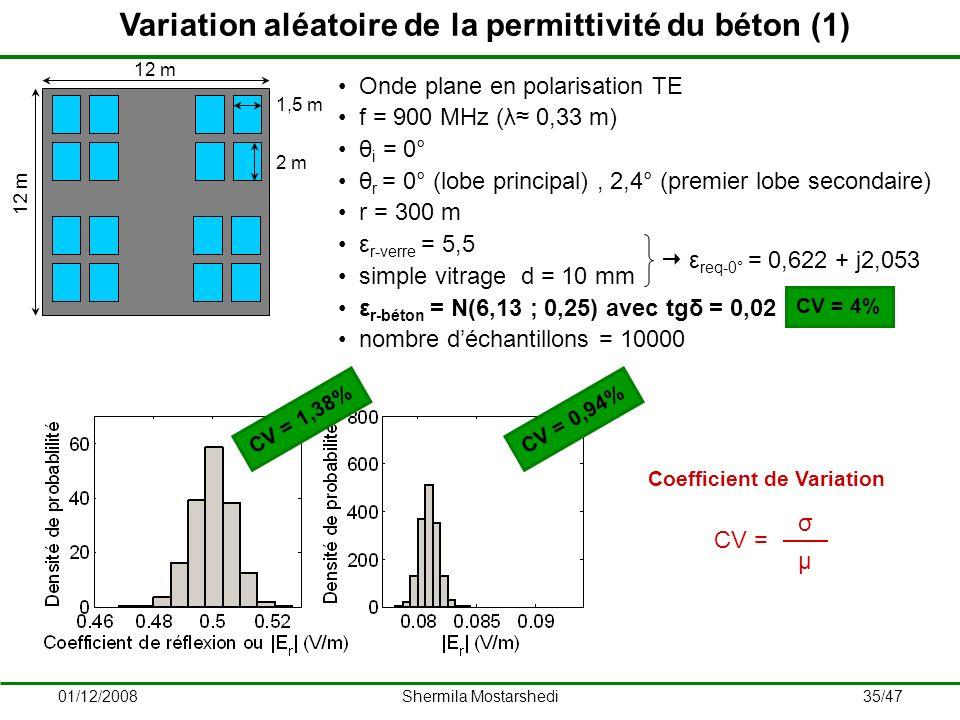 Variation aléatoire de la permittivité du béton (1)